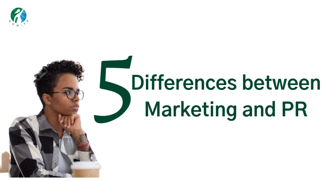 Five differences between Marketing and Public Relations