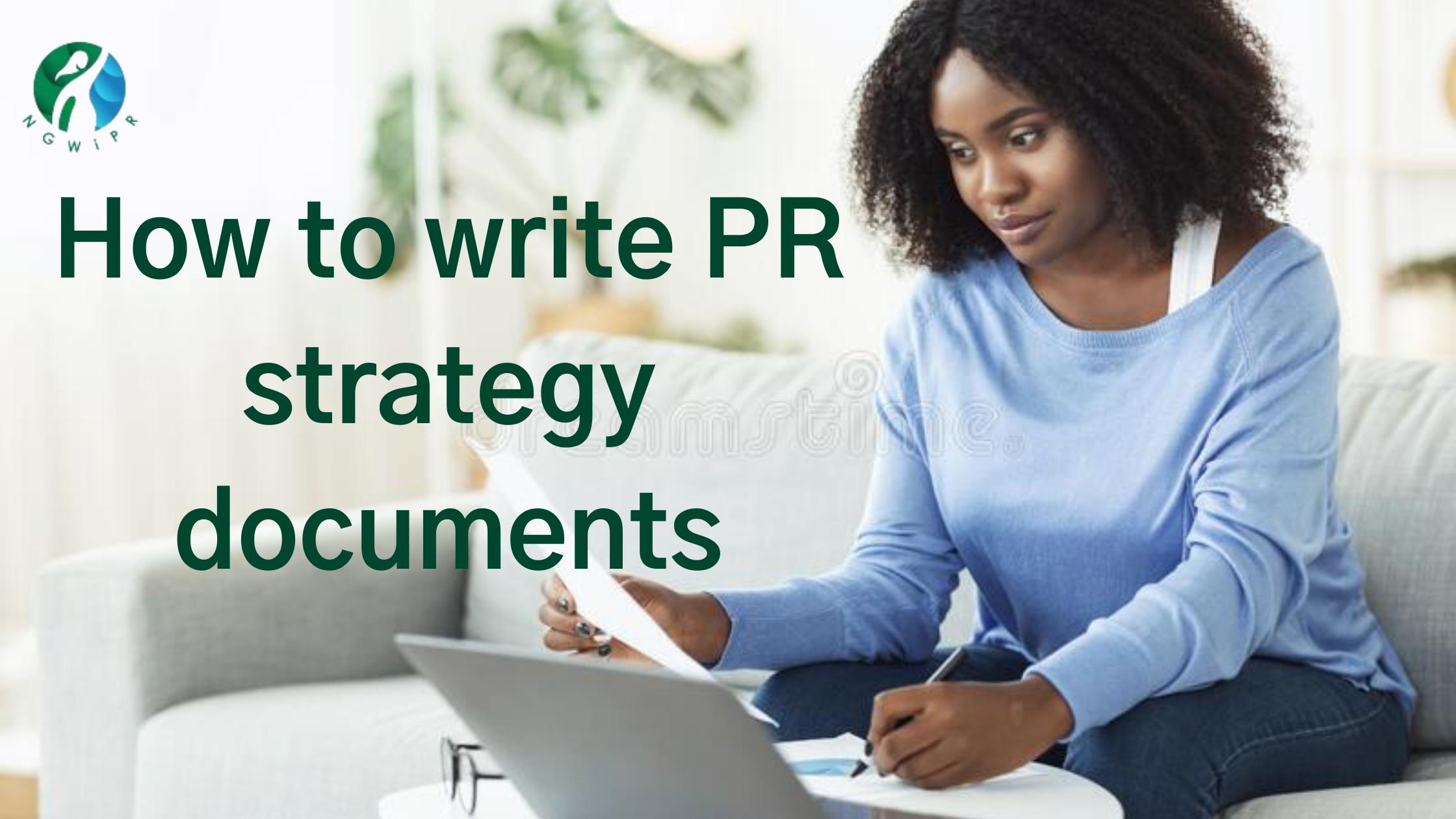 How to Write PR Strategy Documents